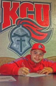 Trevor Osceola signs with KCU