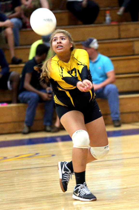 Moore Haven freshman Aleina Micco controls the ball Sept. 17 during a match against host Clewiston High School.