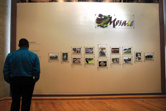 'Conversations' by award-winning Seminole Tribune photographers, showing through February 2016 in the Museum's Mosaic Gallery, consists of 14 images captured during the past three years.