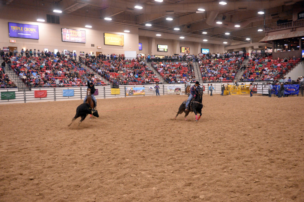 Josh Jumper and Naha Jumper compete at INFR in Las Vegas. (Smith Rodeo Photography)