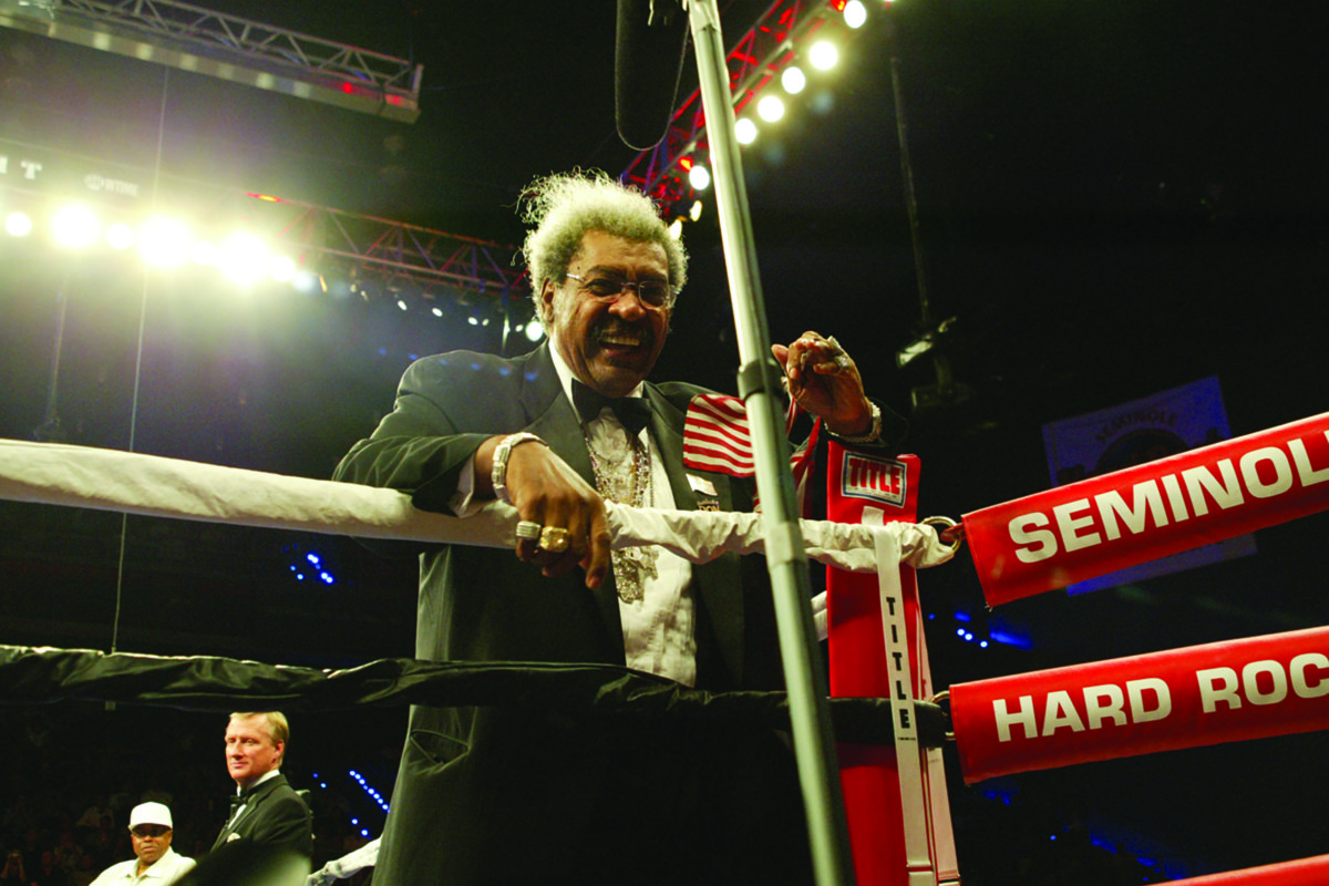 Boxing Don King smiles from the Ropes~FD (338)