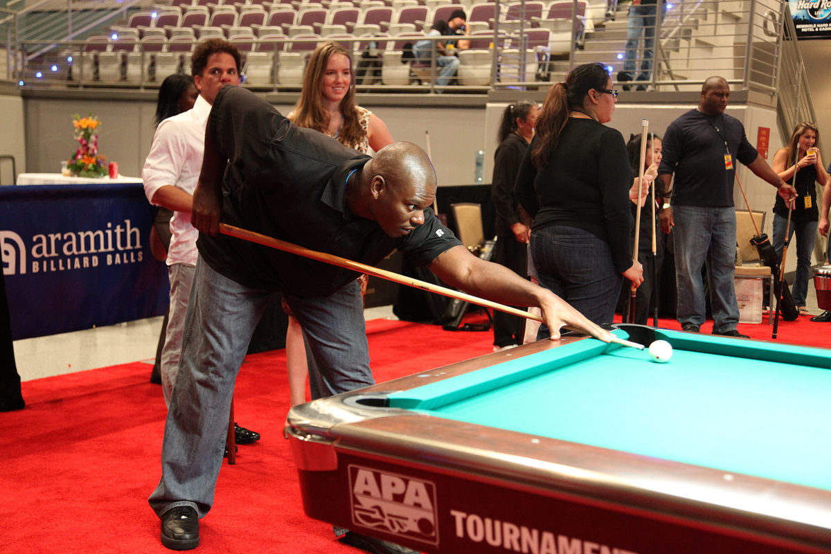 charity pro-Jamal Mashburn WPBA celebrity charity pro-am billiards on Nov. 11, 2009