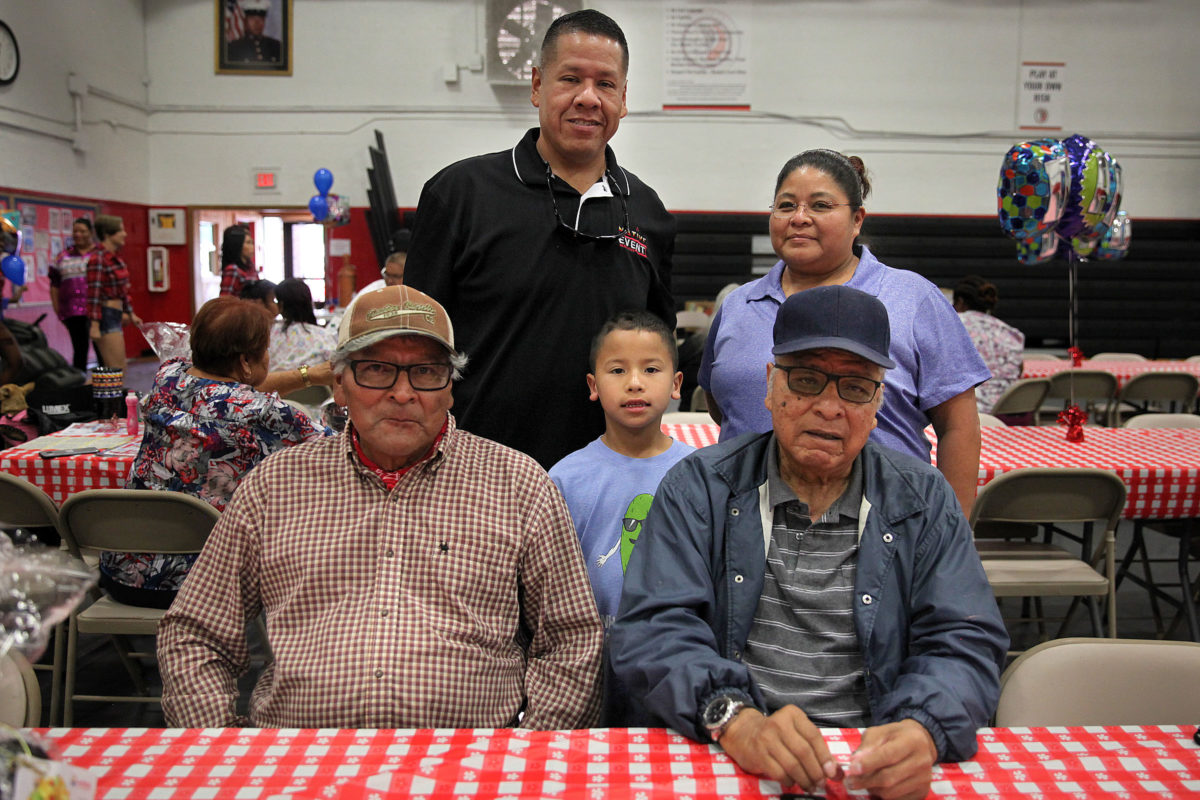 The Bowers family poses for a portrait at the BC Father's Day luncheon June 18. Seated are Eugene and David, standing are Phil, Liam and Nadine Bowers. (Beverly Bidney photo)