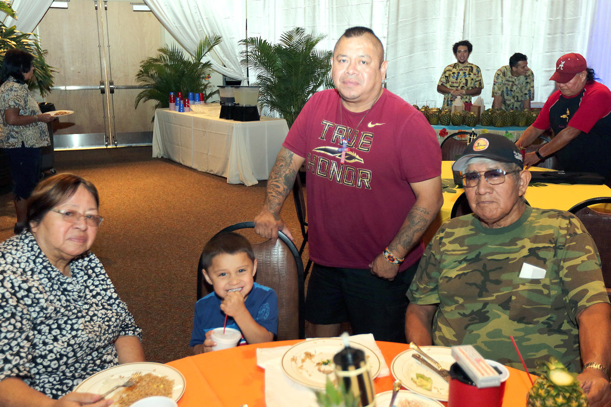 Pictured are three generations of the Micco family. From left to right are Mary Jo, Jaden, Mike and Bill. (Damon Scott photo)