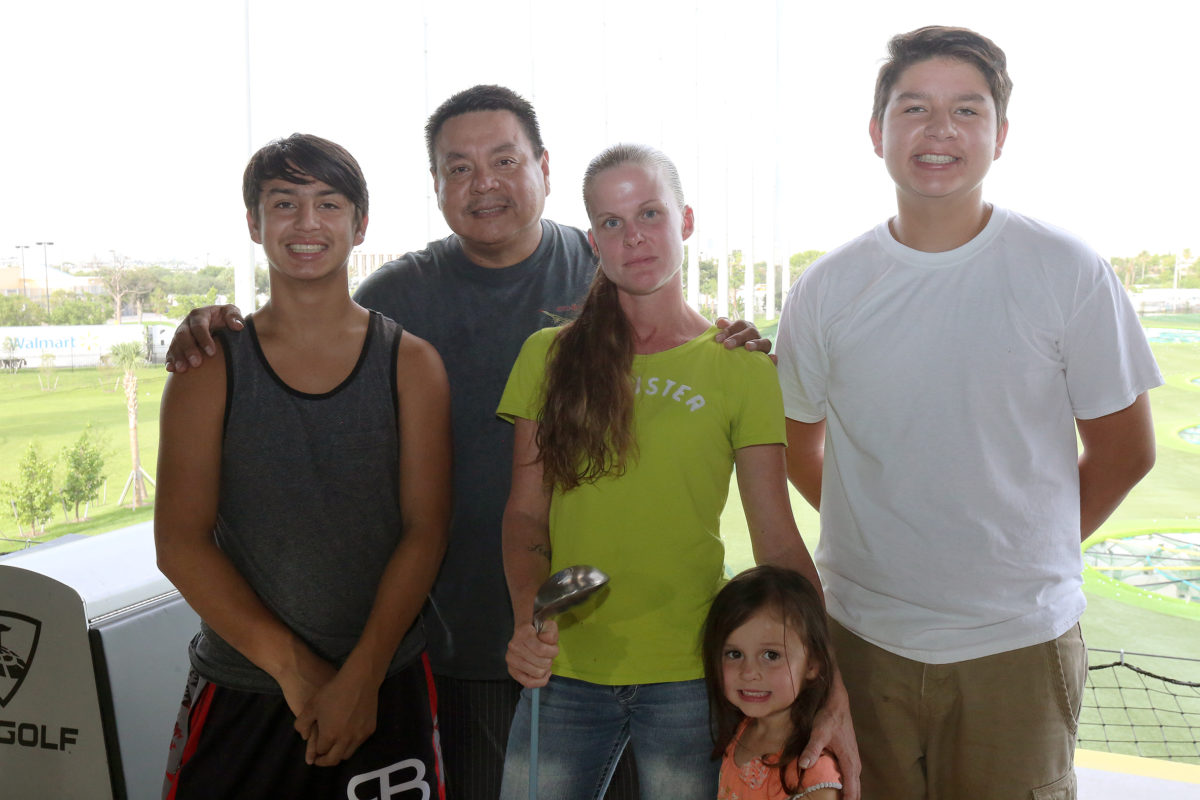 The Osceola family, pictured from left to right, are Conchade, Mitch, Dawn, Gyanna and Byron. (Damon Scott photo)