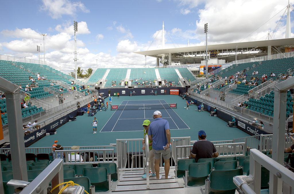 hard rock stadium a big hit with tennis stars • the
